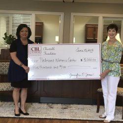CBL donates to Piedmont Women's Center
