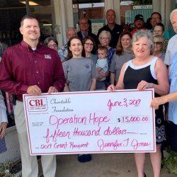CBL donates To Operation Hope